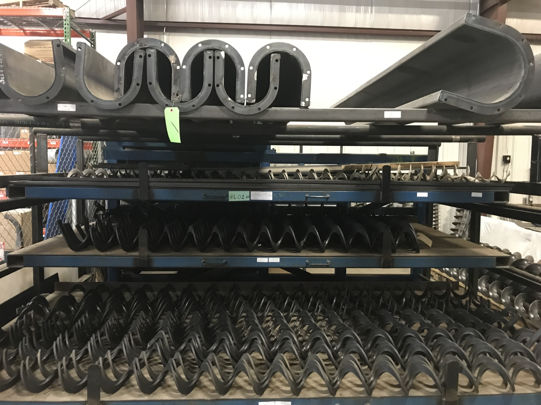 Augers, flighting and troughs